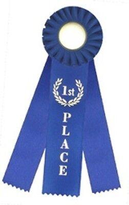 1st First Place Triple Streamer Rosette Award Ribbon 3x10