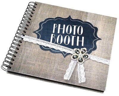 84 Página Duro Respaldado Vintage Photobooth Álbum Blanco Páginas Apariencia Atractiva