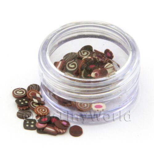 Olla De Chocolate mixto Arte en Uñas que contiene 120 Rebanadas
