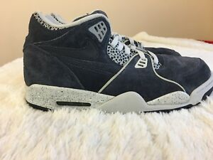 NIKE-AIR-FLIGHT-Men-Shoes-S-11M-Blue-Suede-Leather-Lace-Up-Athleric-Gym-Sport