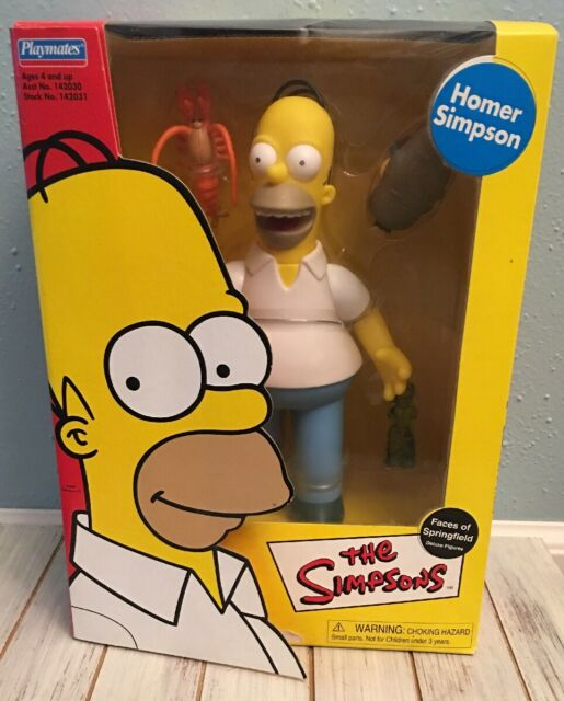 PLAYMATES * THE SIMPSONS * FACES OF SPRINGFIELD * DELUXE HOMER SIMPSON FIGURE