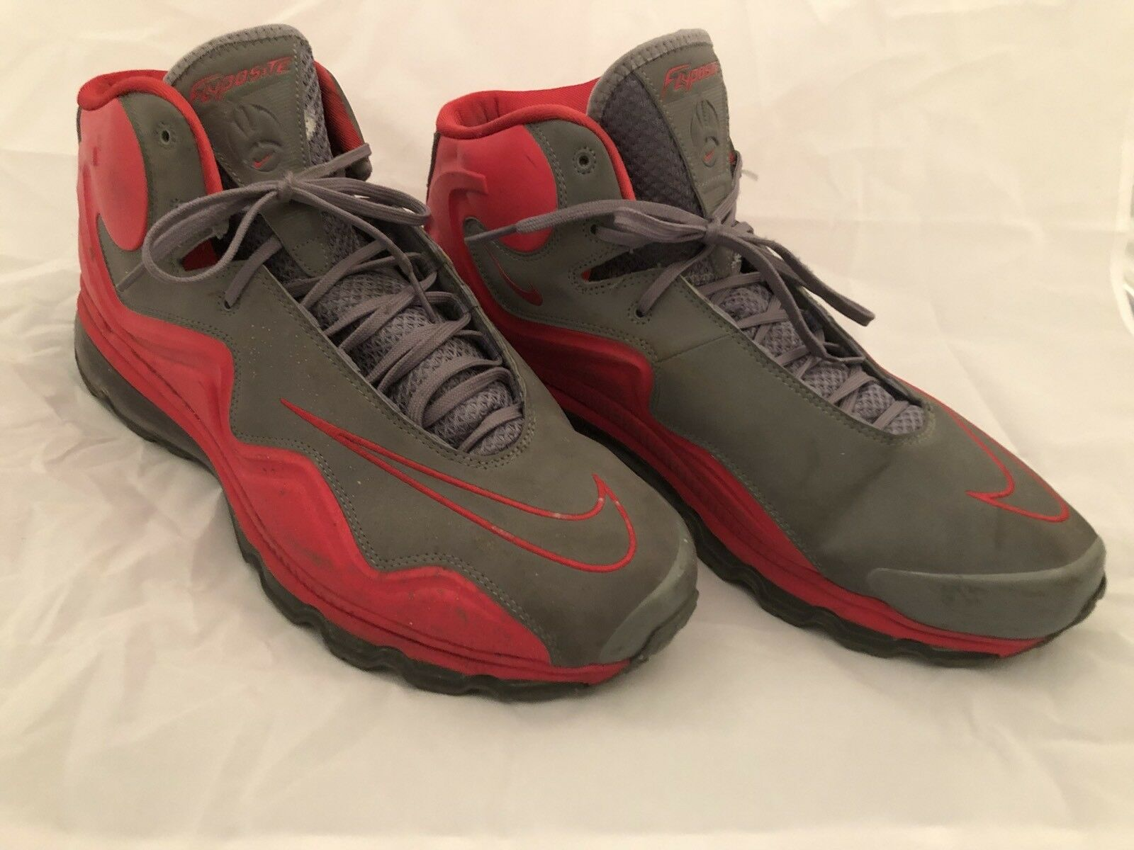 nike taille 15 15 15 hommes gris rouge air flyposite hyper cool 1ab8e6