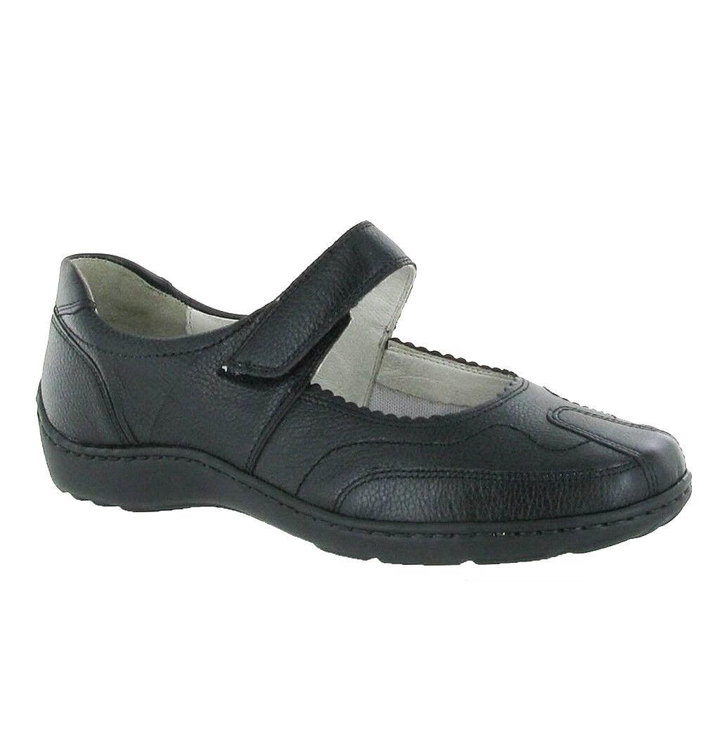 WALDLAUFER 496302 Henni Comfort Fit maryjane morbida pelle scarpe soletta rimovibile