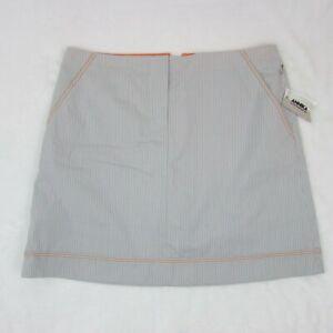 Annika-Cutter-amp-Buck-Women-039-s-Golf-Skort-Gray-Stripe-Skirt-with-Shorts-Size-12