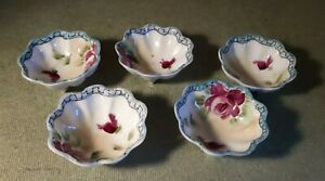 Vintage-Small-Ceramic-Hand-Painted-Japanese-Finger-Bowls-7cms-Diameter