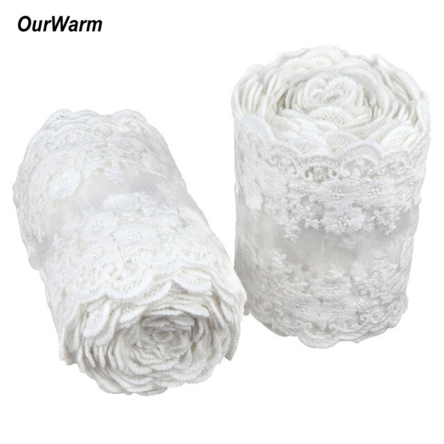 Vintage Antique White Lace Ribbon Wedding Trim Bridal Shabby Dress DIY Fabric