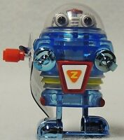 Vintage Style Wind Up Toy Neutron Robot Walks & Hands Spin California Creations