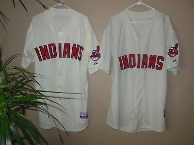 competitive price 1d05e 1003d CLEVELAND INDIANS BLANK CREAM BASEBALL JERSEY | eBay