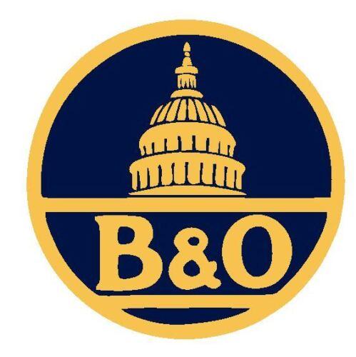 B /& O Baltimore /& Ohio Railroad Sticker R4906 Railway Train Sign YOU CHOOSE SIZE