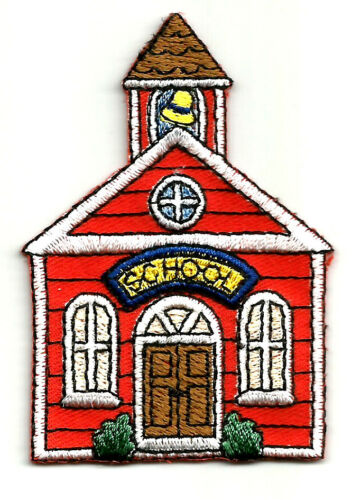 Teacher Embroidered Iron On Applique Patch School House School