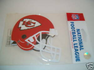 KANSAS CITY CHIEFS NFL HELMET STICKER NEW IN PACKAGE