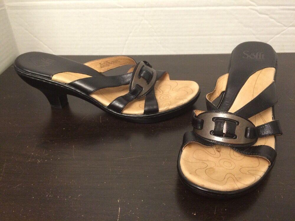 Sofft Size Black Slide Heel Sandals Size Sofft 9M 1203601 76b1a9