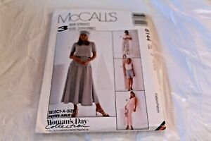 McCall-Pattern-8144-D-12-14-16-Misses-Top-Pants-Shorts-Skirt-Sewing-Pull-On