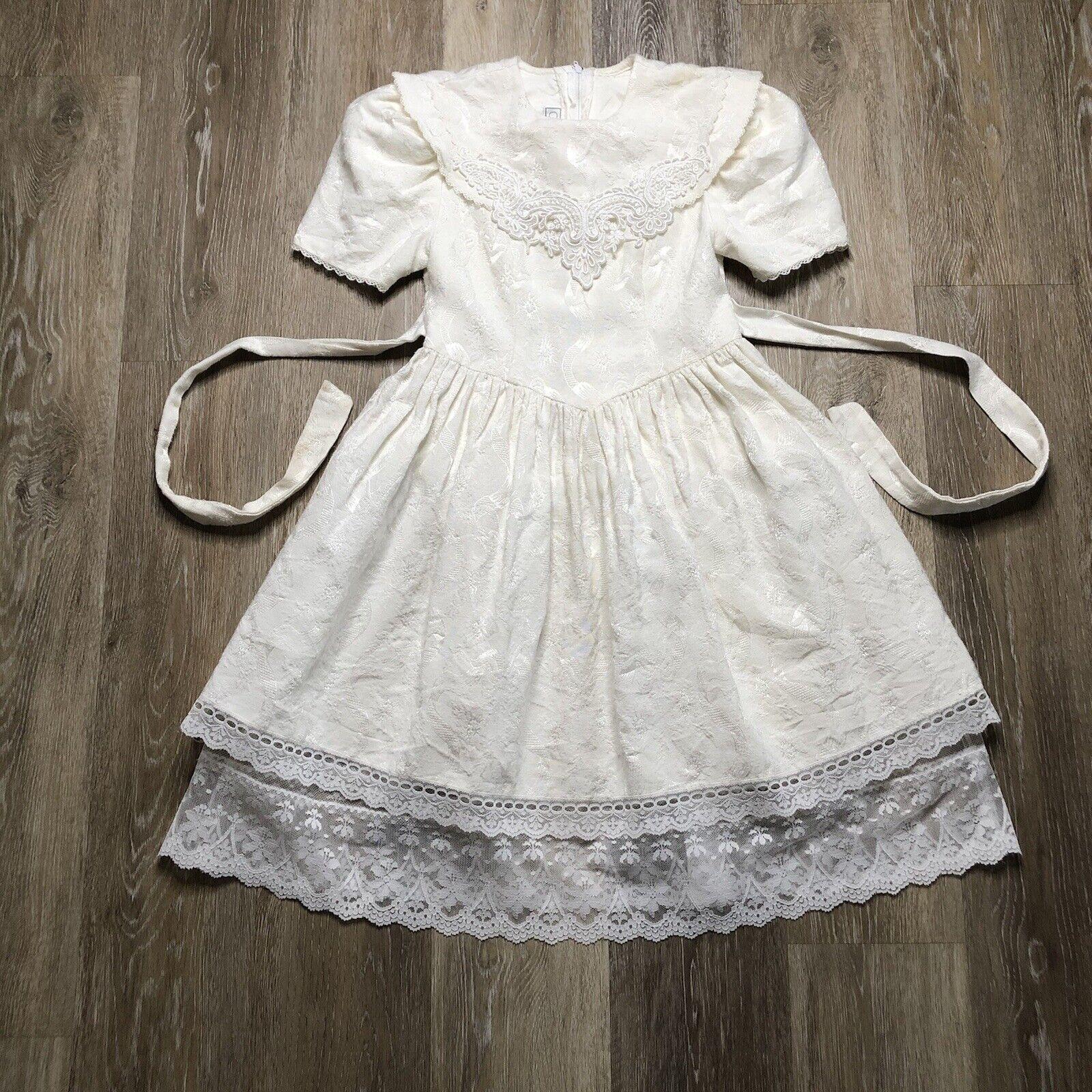 Vintage 90s Jessica McClintock Gunne Sax Dress Gi… - image 1