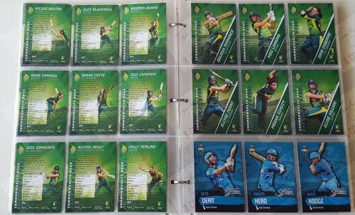 folder bonus album card NICE SET ~ 2015-16 tap n play cricket BBL set