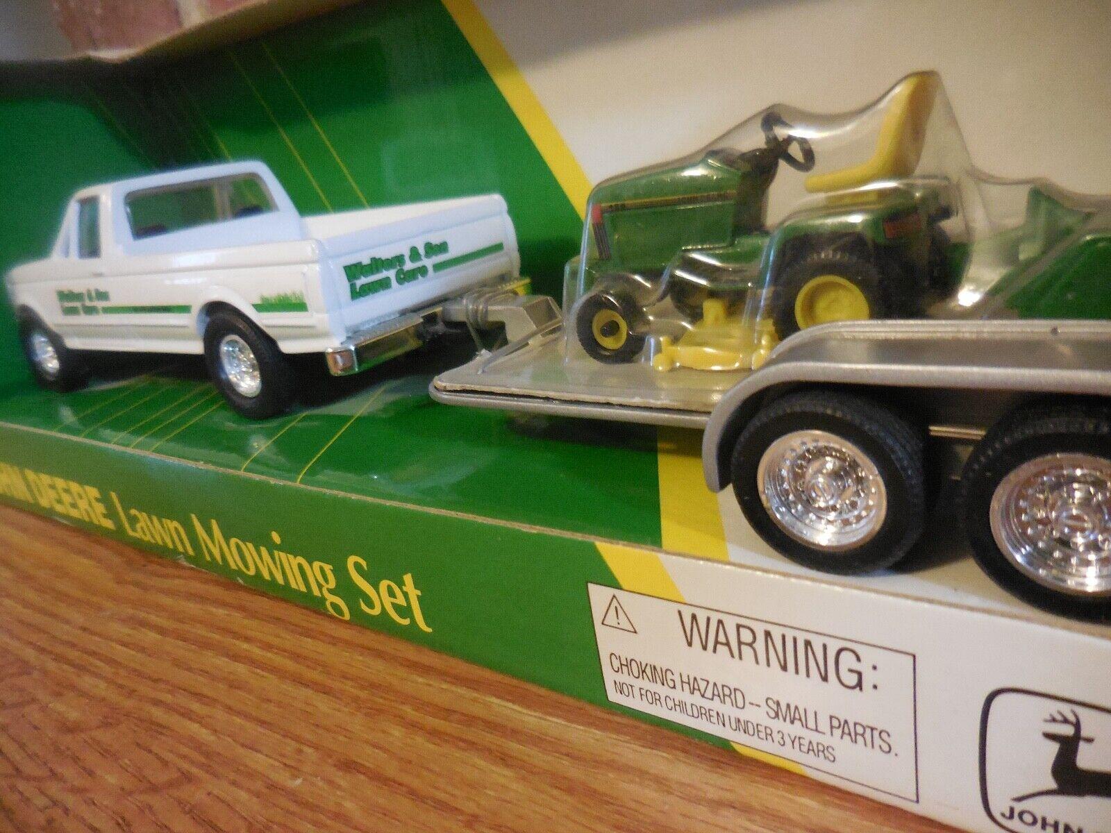 Ertl 1 32 John Deere 455 Segadora & Camioneta Ford Con Remolque De Juguete Conjunto de Superficie Plana