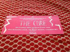 The Cure Rare Memorabilia Press Conference Invitation Groucho Club August 30th