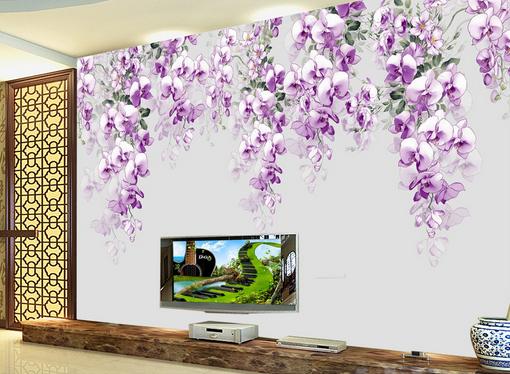 3D lila Petal Vine 7 Wall Paper Murals Wall Print Wall Wallpaper Mural AU Kyra