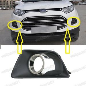 Image Is Loading Pair Fog Light Grill Bezels W Chrome Rings
