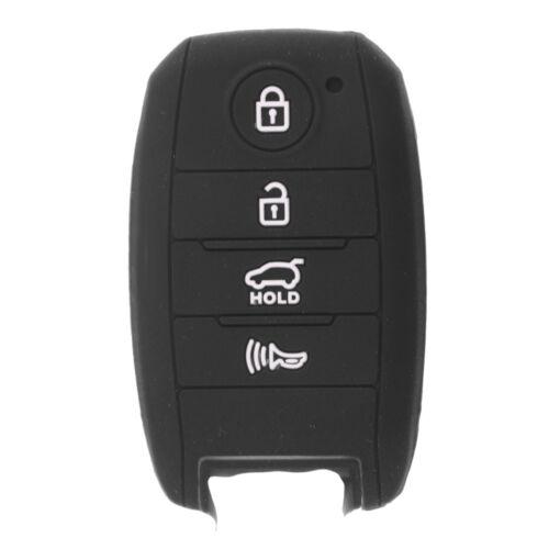 Car Key Fob Scratch Protective Case Cover Skin Jacket for Kia K3 Black