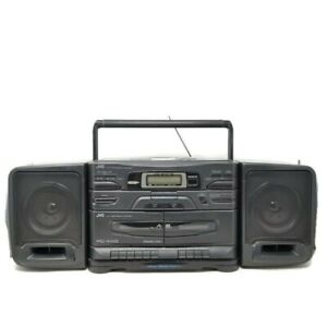 JVC PC-X110 Stereo Boombox CD Player FM AM Radio Dual Cassette Player Recorder