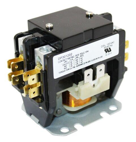 Contactor Relay 2 Pole 30 Amp 120 Volt Coil HVAC A//C Appliance Repair Part C230B