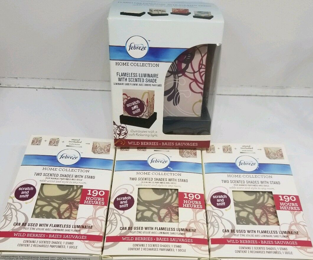 Febreze Febreze Febreze Wild Berries Flameless Luminary   Luminaire Starter Kit + 6 Refills c93396