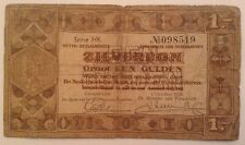 Netherlands Banknote. One Gulden. Dated 1938