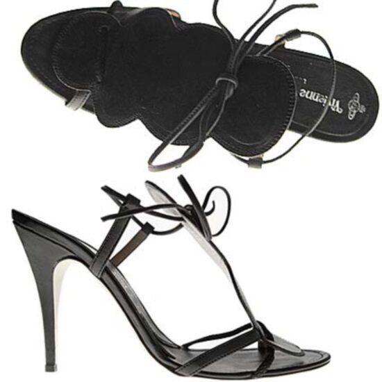 Vivienne Westwood sandalo fiore b/black, b/black flower sandal