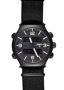 Unissued-MWC-G10-EVO-Dual-Time-Military-Chronograph-Contract-Watch-EVO-PVD