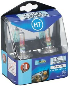 Pack-of-2-x-H7-Xenon-Headlight-Bulbs-Head-Lamps-Set-Bright-Mega-White-12V-55W