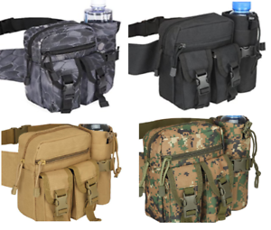 NEW-QUALITY-Tactical-WAIST-BAG-Pouch-amp-Water-Bottle-Kettle-Holder-Pack-CHOICE
