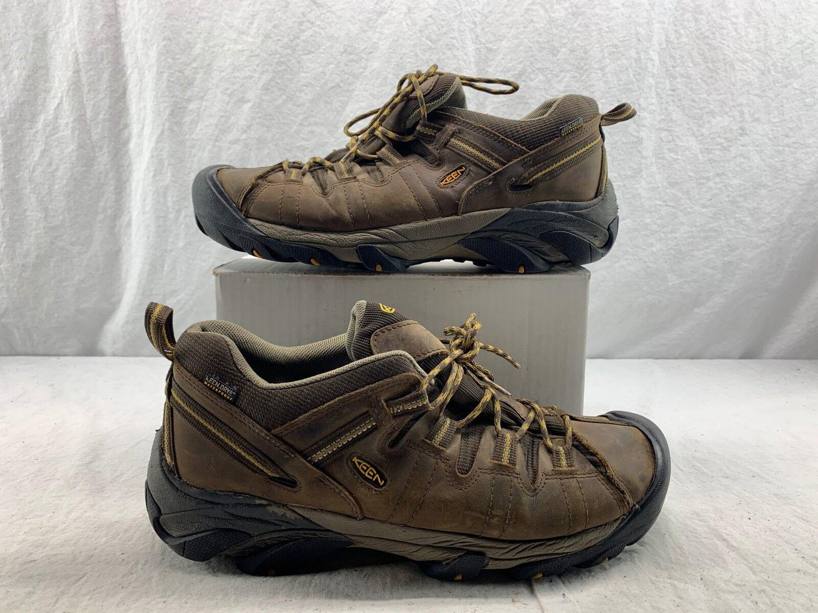 Keen Men's Cascade Brown Boots 1008417- Brown golden Yellow Size 13