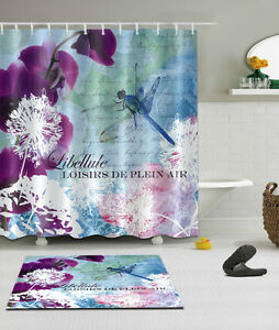 Superieur Image Is Loading Bathroom Decor Shower Curtain Dandelion Amp Dragonfly 12