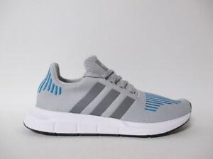 adidas swift run grigio heather blu bianco nero sz 9 cg4108 ebay