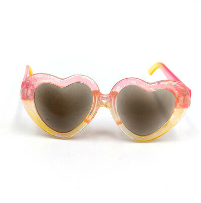 Fit For 18/'/' American Girl Fashion Pink /& Yellow Heart Glasses Doll Accessories