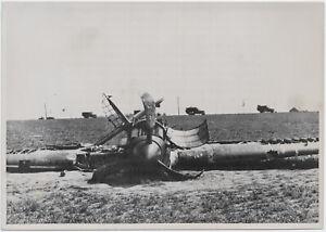 Eine-abgeschossene-Hurricane-Orig-Pressephoto-von-1940