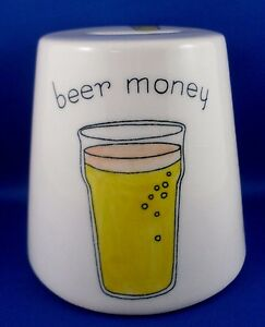 RETRO-1980s-TRANSOMNIA-UK-Handpainted-Novelty-Ceramic-BEER-MONEY-BOX-ManCave-Bar