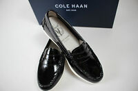 Cole Haan Size 5 Women's Black 100% Patent Leather Pinch Weekend Loafer