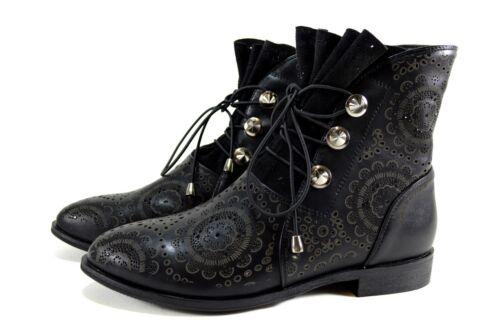 Gr Garfield Sommer 40 Damen John Schwarz 36 Boots Stiefeletten Luftige Elegante 6UqW7A