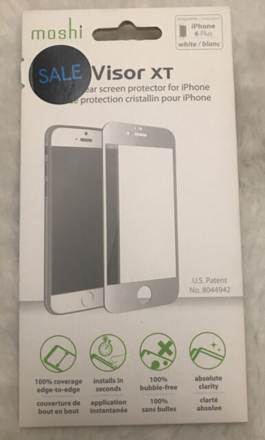 New OEM Moshi iVisor XT White/Blanc Screen Protector For iPhone 6 Plus/6s Plus