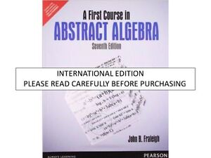 Details about A First Course in Abstract Algebra by John B  Fraleigh