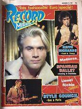 Record Mirror Nov 12 1983 Spandau Ballet Smiths Morrissey SPK Weller Madness