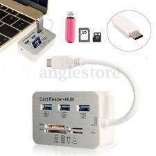7 in1 USB Type-C To USB 3.0 Hub USB 3.1 MS M2 SD TF Card Reader Hub For Macbook