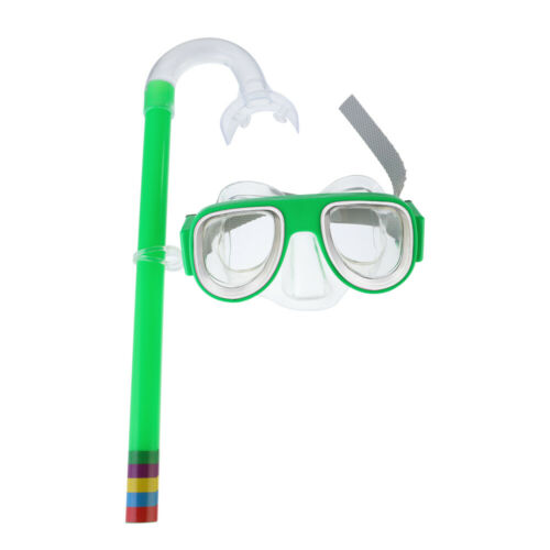 Kids Child Glass PVC Swimming Snorkel Mask Goggles Anti-Fog Scuba Diving
