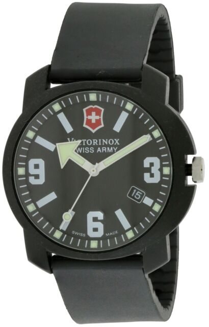 Swiss Army Watch >> Swiss Army Victorinox Black Recon Mens Watch 24533 For Sale Online