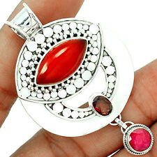 Carnelian 925 Sterling Silver Pendant Jewelry CRNP703