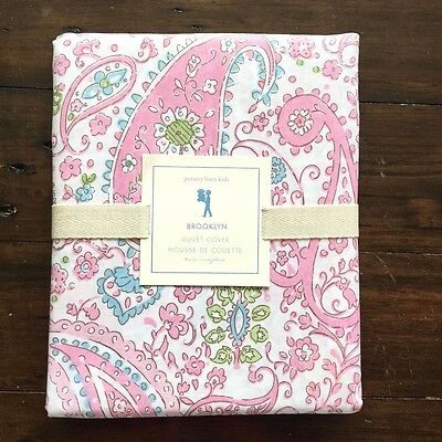 Pottery Barn Kids Brooklyn Duvet Cover Twin Pink Paisley