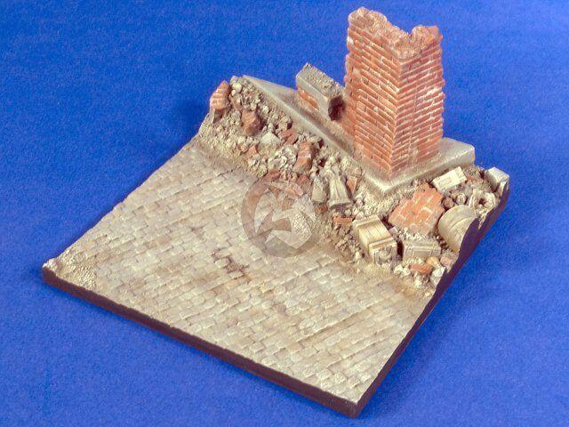Verlinden 1 35 Destroyed Cityscape Corner Diorama Base (13cm x 13cm) 2783