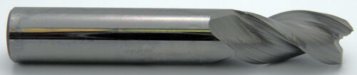 """1//8/"""" 3 Flute 1//2/""""LOC Benchmark HP 37° Helix Carbide End Mill For Aluminum"""